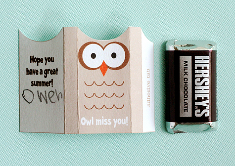 picture regarding Owl Miss You Printable identify conclude of higher education address for clmates (with printable) - Lisa