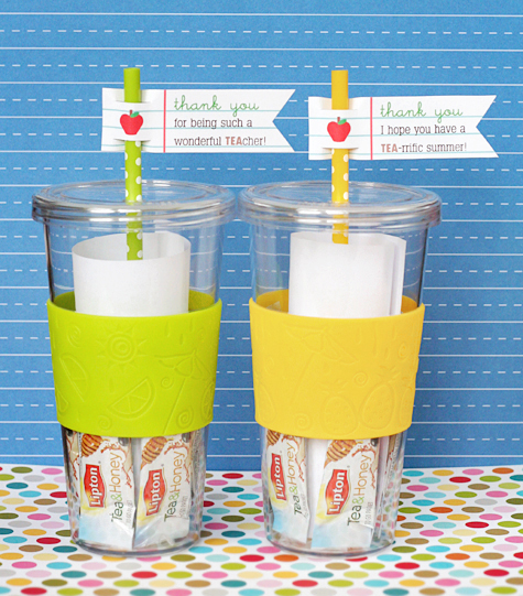 Tea- rrific Tea cher . Fill a reusable cup with thank you notes and ...