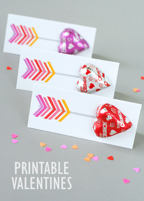 graphic relating to Printable Arrow identify printable arrow valentines - Lisa Storms