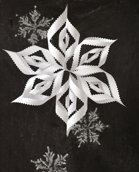 Pinked paper snowflake