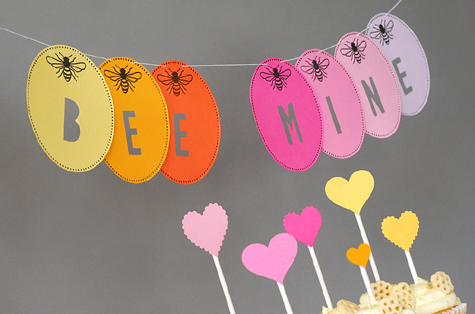 Bee Mine Valentine Party Banner