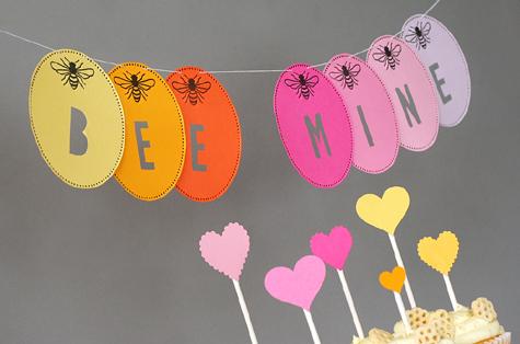 Bee Mine Valentine Party Banner