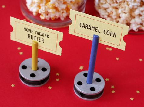 Tinker toy film reels