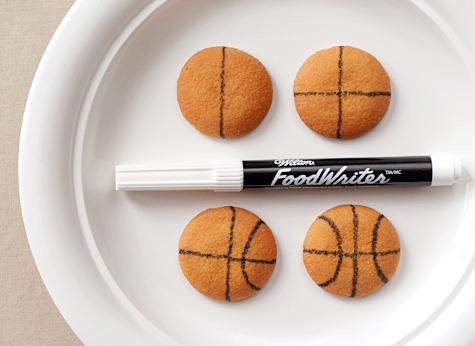 Basketball cookies tutorial