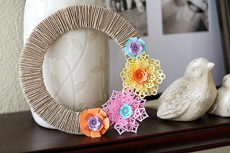 3D Corner Punched Flowers