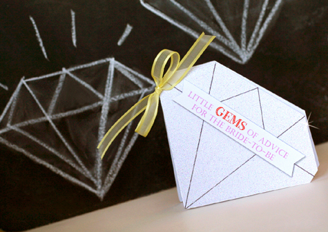 Diamond Bridal Shower - Gems of Advice