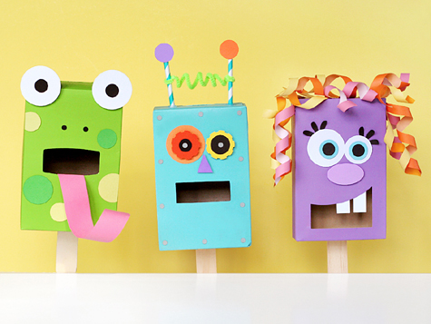 Pasta Box Puppets