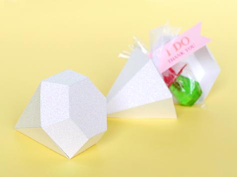 Diamond Favor Box