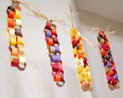 Corn Paper Chain Garland