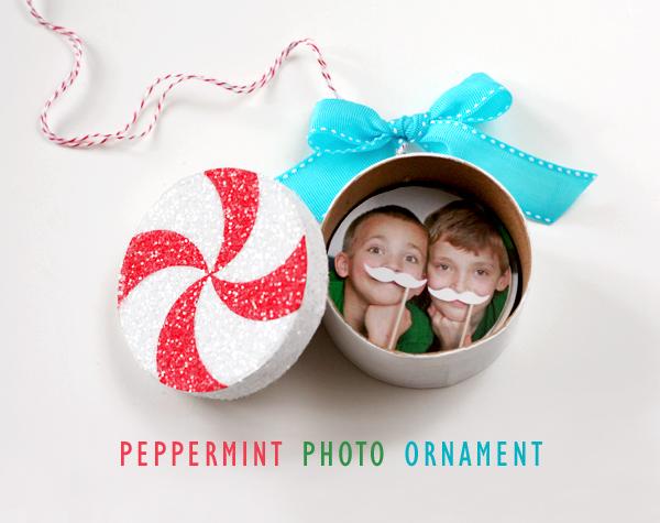 Peppermint Photo Ornament