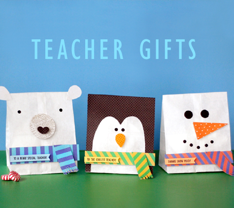 Teacher Holiday Gift Bags