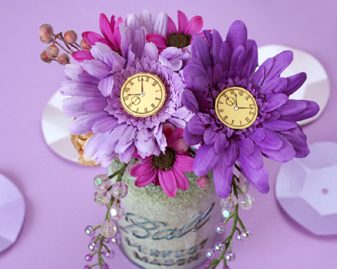 New Year's Eve Floral Centerpiece