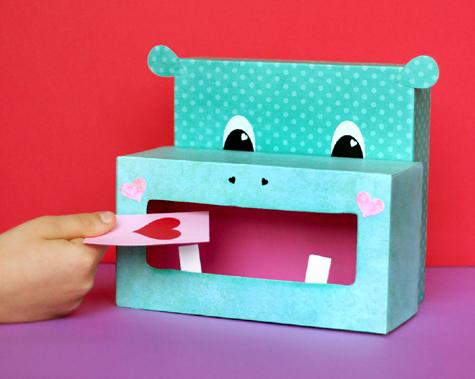 Hippo Valentine Box Lisa Storms