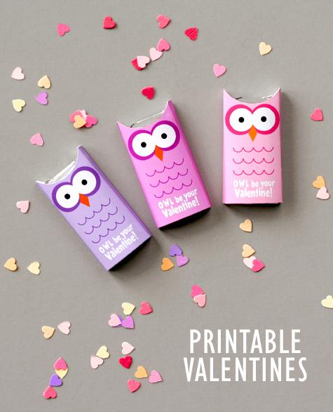 Owl Valentines - Free Printable