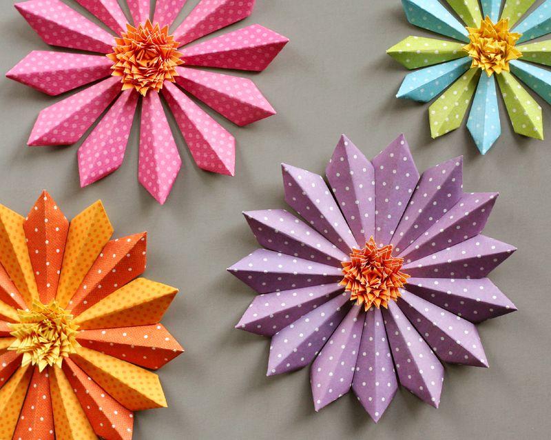 Dimensional Paper Flowers