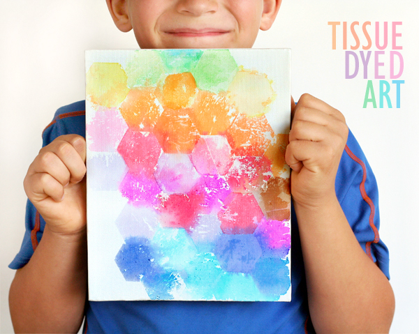 Tissue Dyed Art Canvas