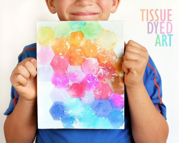 Tissue Dyed Art Canvas