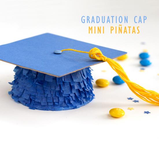 Graduation Cap Mini Pinatas