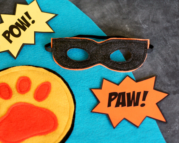 Super Hero Dog Costume Mask