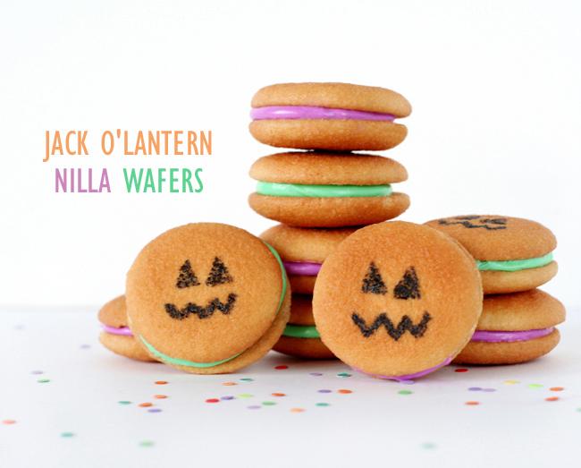 Jack O'Lantern Nilla Wafer Cookies